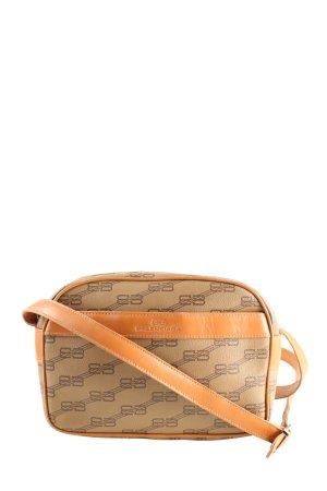 Balenciaga Shoulder Bag brown themed print casual look