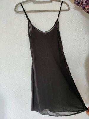 Balenciaga Pinafore dress black silk