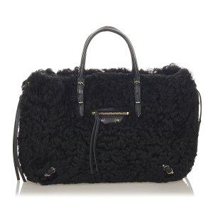 Balenciaga Satchel black fur