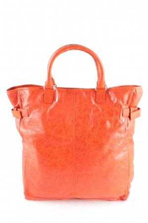 Balenciaga Shopper dunkelorange Street-Fashion-Look Leder
