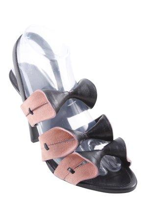 Balenciaga Slingback-Pumps schwarz-rosa extravaganter Stil