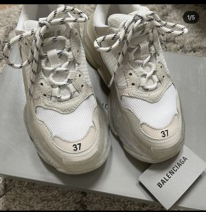 Balenciaga Platform Trainers cream-white