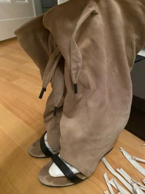 Balenciaga Platform Boots beige-black