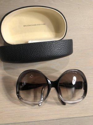 Balenciaga Gafas de sol redondas gris oscuro-gris claro tejido mezclado