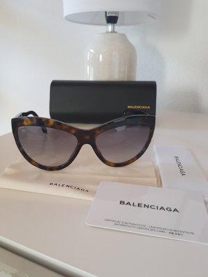 Balenciaga Owalne okulary przeciwsłoneczne brązowy