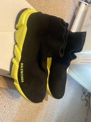 Balenciaga Slip-on Sneakers black-neon yellow