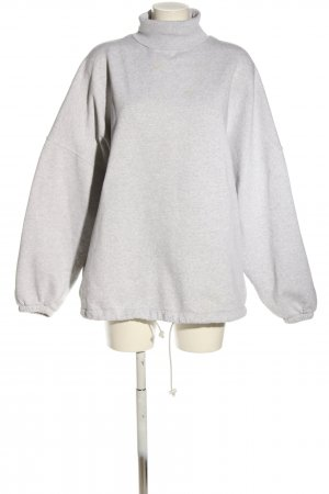 Balenciaga Sweat Shirt light grey flecked casual look