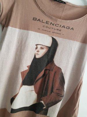 Balenciaga T-shirt imprimé or rose-vieux rose
