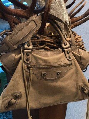 Balenciaga Sac à main gris brun