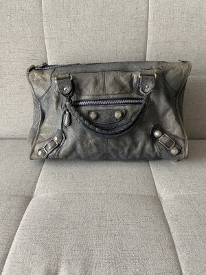 Balenciaga Sac à main gris-gris ardoise