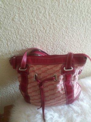 Balenciaga Handbag red linen
