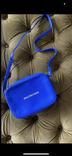 Balenciaga Borsa a spalla blu-blu neon Pelle