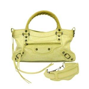 Balenciaga Handbag green leather