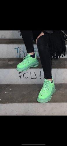 Balenciaga Basket montante vert fluo