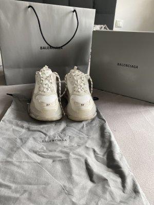 Balenciaga Chaussures à lacets blanc