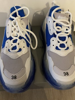 Balenciaga Heel Sneakers white-blue