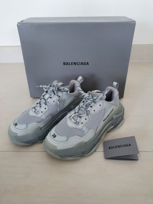 Balenciaga Heel Sneakers silver-colored