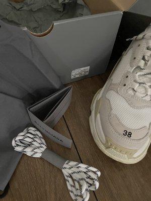 Balenciaga Lace-Up Sneaker natural white