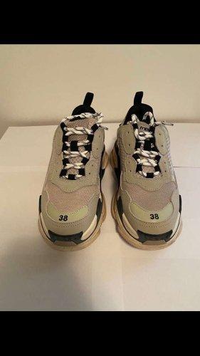 Balenciaga Sneaker stringata grigio chiaro-nero