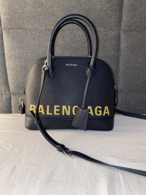 Balenciaga Sac à main bleu-jaune primevère cuir