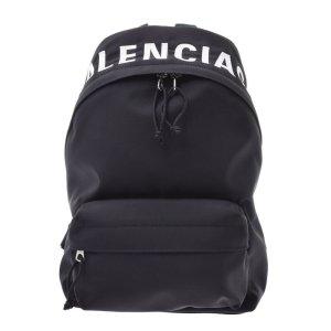 Balenciaga Sac à dos noir fibre textile