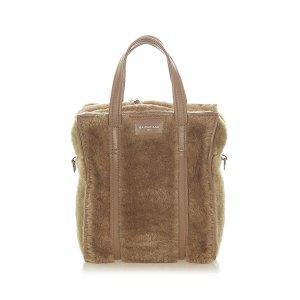 Balenciaga Satchel light brown fur