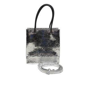Balenciaga Satchel silver-colored leather