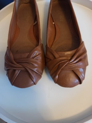 Primark Mary Jane Ballerinas cognac-coloured