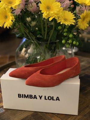 Bimba & Lola Baleriny z koronką czerwony