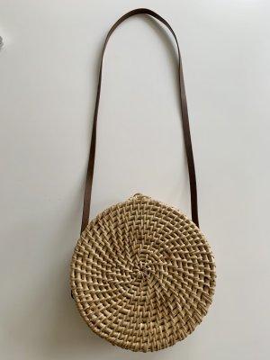 Zara Accesoires Borsetta a cestino sabbia-color cammello