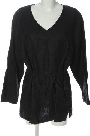 Bali Studio Lniana bluzka czarny W stylu casual