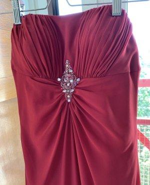Vestido de baile magenta-rojo neón