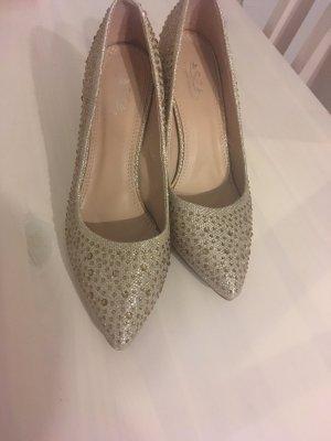 Ball Schuhe gold/silber