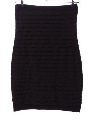 Ball schulterfreies Kleid schwarz Streifenmuster Casual-Look