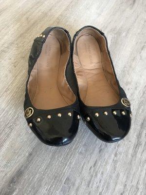 Armani Foldable Ballet Flats black