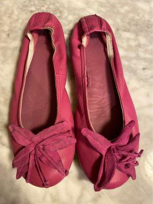 Ballerines à lacets rose