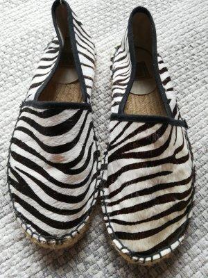 Foldable Ballet Flats white-black