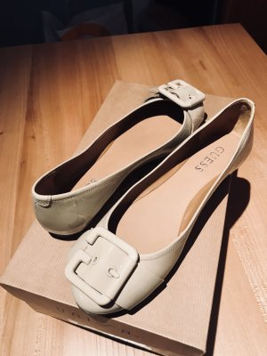 Guess Patent Leather Ballerinas cream
