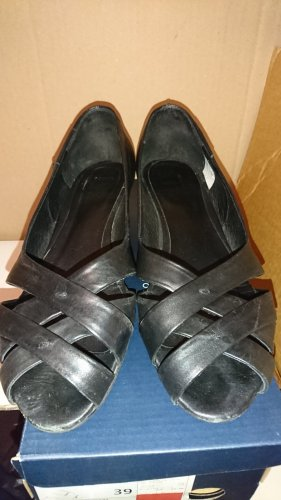 Mexx Peep Toe Ballerinas black