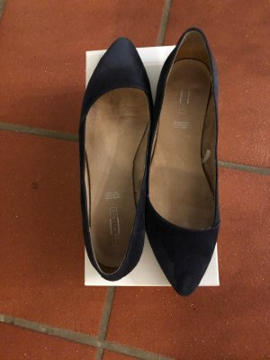 5 th Avenue Ballerinas with Toecap dark blue leather