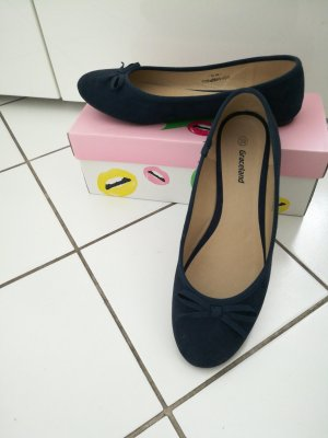 Graceland Slingback Ballerinas dark blue mixture fibre