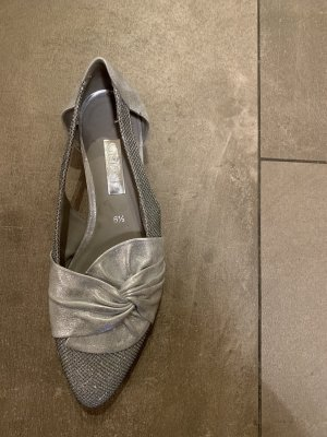 Gabor Strappy Ballerinas silver-colored