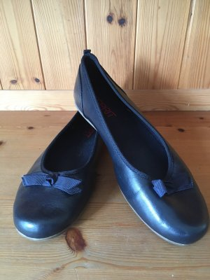 Esprit Ballerina di pelle verniciata blu scuro