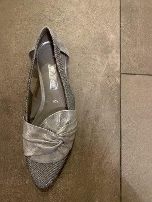 Gabor Ballerina's met bandjes zilver