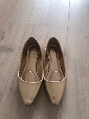 Ballerinas with Toecap rose-gold-coloured