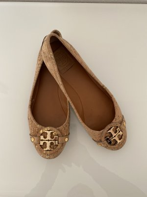 Tory Burch Bailarinas con tacón Mary Jane marrón claro