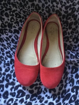 COS Mary Jane Ballerinas brick red