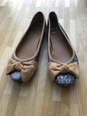 Foldable Ballet Flats multicolored leather