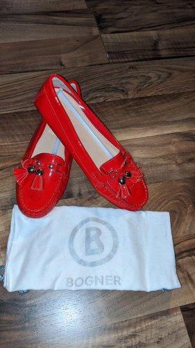 Bogner Ballerina di pelle verniciata rosso