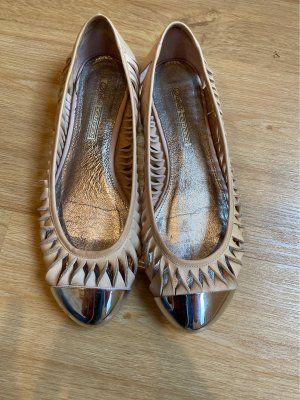 Buffalo Mary Jane Ballerinas silver-colored-nude leather